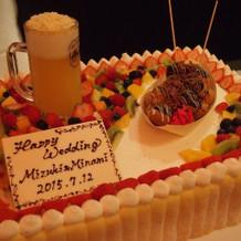 祭りをイメージしたウェディングケーキ