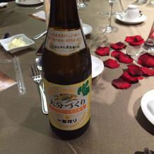 大分のラベルのビール