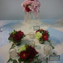 ゲストテーブルお花②