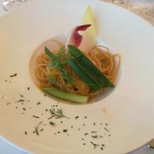 海老と寒葱のスパゲッティ