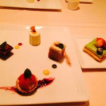 デザート四種 プリンセスケーキ