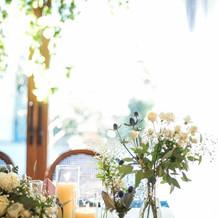 会場の装花も要望通りにしてくれました
