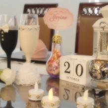 テーブル装飾 ドレスグラス