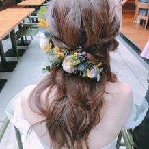 ヘアアクセのお花