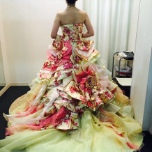 BENIちゃんのドレス!可愛いです。