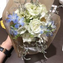 心をこめて作られた花束が素敵だった