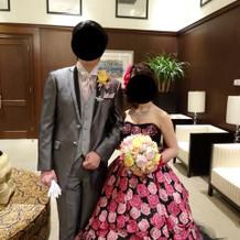 一目ぼれしたBABYのバラのドレス