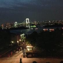 東京タワーとレインボウブリッジを一望