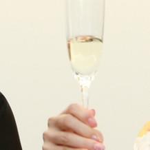 乾杯用シャンパン