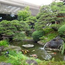 池付きに日本庭園。和装にぴったり