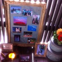 エントランスの写真、お花の演出