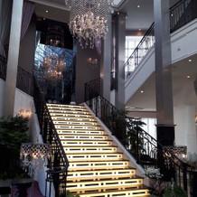 もう一つの会場の階段