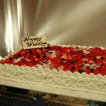 ケーキは一段で問題なかったです。