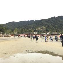 鳥居から見た厳島神社です