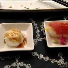 デザートのあとにきたお寿司