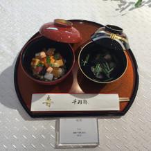 和食のコースも非常に美味しそう