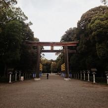 挙式をあげた橿原神宮です