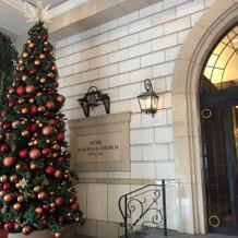 クリスマスツリーが飾ってある時期