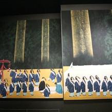 神楽殿への通路にある、大きな日本画