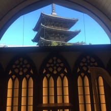 挙式祭壇からの眺め