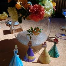 各宅テーブルの装飾とお花