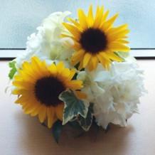 披露宴会場で頂いたお花