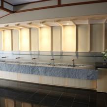 お式の前に、ここで手を洗います