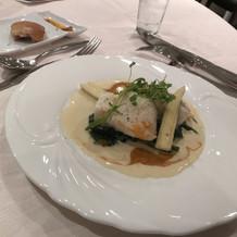 白身魚 濃厚なソースが美味しかった
