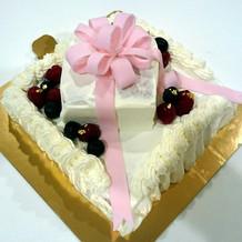 手作りのバイト用の生ケーキ