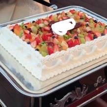 オーソドックスなケーキです