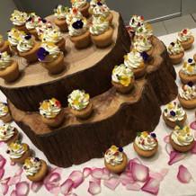二次会のはカップケーキ人数分!