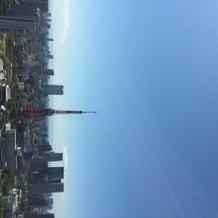 38階受付スペースからの景色