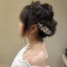 お気に入りのヘッドドレスです。
