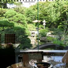 披露宴会場から見える庭園