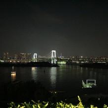 東京の夜景が一望できます。