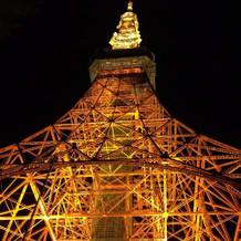 入り口から見える東京タワー