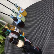 披露宴前の飲み物