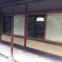 茶室の外観(接写)