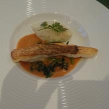 魚料理。鯛でした!