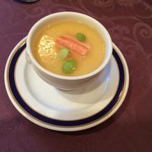 蟹と百合根の茶碗蒸し