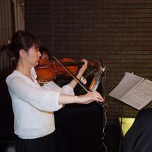 挙式でのヴァイオリン生演奏