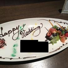 試食で頂いたデザートのプレートです。