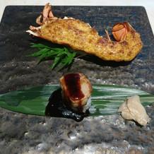 オマールえびとフォアグラ寿司