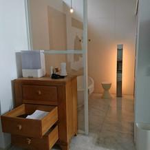 宿泊部屋のお風呂場。