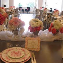 高砂のテーブル