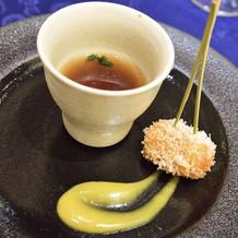 手長海老のコンソメスープ