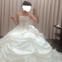 実際に着用したドレス