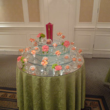 キャンドルとお花のタワー