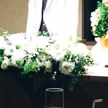メインテーブル装花、ブーケ