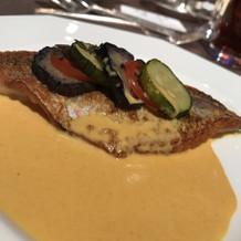15000円のフレンチ料理の魚料理